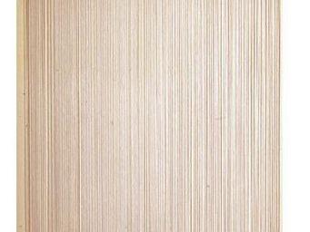 Aubry-Gaspard - rideau fil de porte en polyester naturel - Rideaux Prêts À Poser