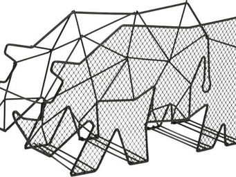 Amadeus - porte magazine design en m�tal rhinoc�ros - Porte Revues