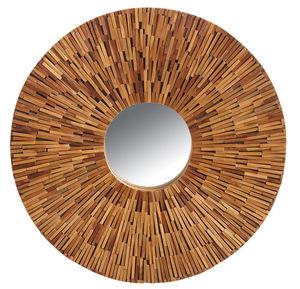 Aubry-Gaspard - miroir en teck recyclé - Miroir