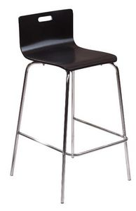 COMFORIUM - lot de 2 chaises de bar design noir - Chaise Haute De Bar