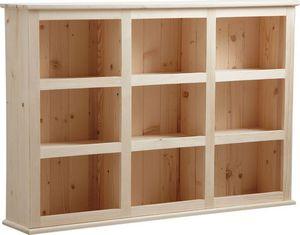 Aubry-Gaspard - bibliothèque en bois brut 9 cases - Bibliothèque