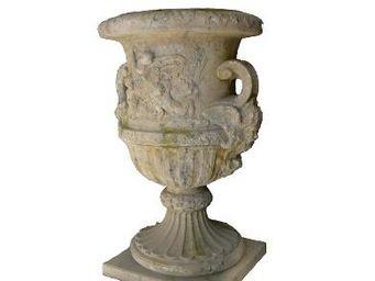 TERRES D'ALBINE - angelots - Vase Medicis