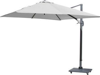 PROLOISIRS - parasol déporté carré 3 mètres blanc - Parasol
