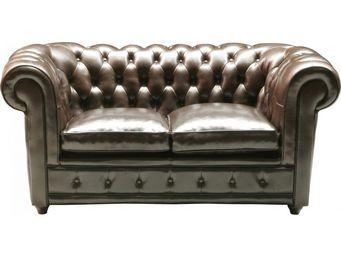 Kare Design - canapé 2 places oxford 2 places cuir - Canapé Chesterfield
