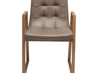 Kare Design - chaise en cuir trapez - Chaise