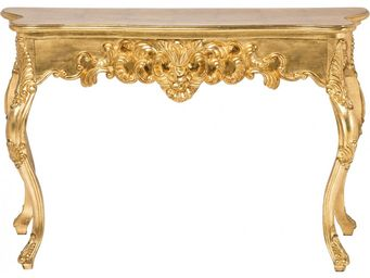 Kare Design - console baroque ornament or antique grande - Console