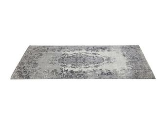 Kare Design - tapis carré kelim pop gris 240x170 - Tapis Contemporain