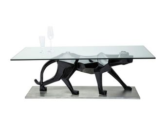 Kare Design - table basse en verre black cat 140x70 cm - Table Basse Rectangulaire