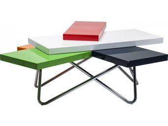 Kare Design - table basse design micado colore 105x94 cm - Table Basse Forme Originale