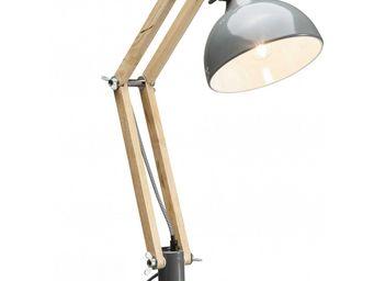 Kare Design - lampe de table work station grise - Lampe De Bureau