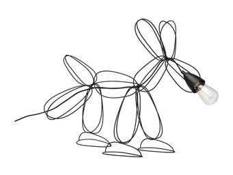 Kare Design - lampe de table dog wire noire - Lampe À Poser
