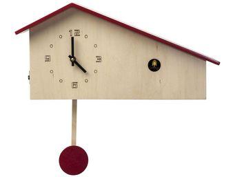 Kare Design - horloge kuckuck modern house - Horloge Murale