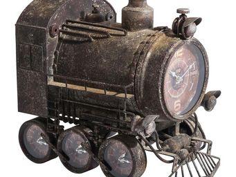 Kare Design - horloge murale steam train - Horloge Murale