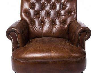 Kare Design - fauteuil vintage cigar lounge - Fauteuil