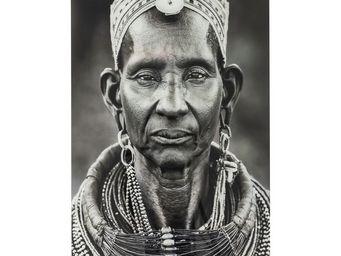 Kare Design - tableau en verre kenyan woman 120x80 - Tableau Décoratif