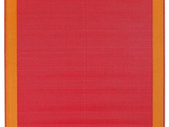 FABHABITAT - tapis int�rieur ext�rieur skien orange et rouge mo - Tapis Contemporain