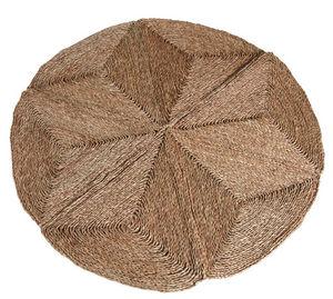 Aubry-Gaspard - tapis rond en jonc 180 cm diamètre 180cm - Tapis Contemporain