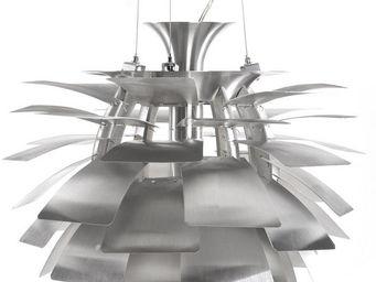 KOKOON DESIGN - lampe à suspendre en métal argenté design paper 45 - Suspension