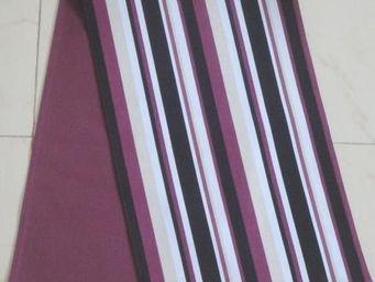 ITI  - Indian Textile Innovation - stripes - maroon - Chemin De Table
