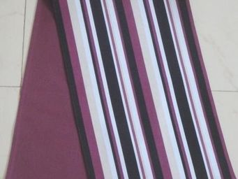 ITI  - Indian Textile Innovation - stripes - maroon - Chemin De Table