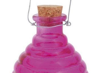 Esschert Design - piège à guêpes en verre fuchsia - Attrape Guêpes