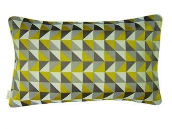 BAILET - coussin d�co prisme - 30x50 cm - verso gris perle - Coussin Rectangulaire