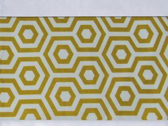 BAILET - ornement graphique - symphonie - 240x37 cm - jaune - Parure De Lit