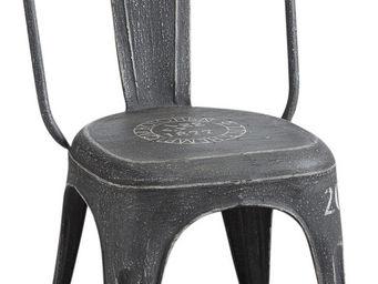 Aubry-Gaspard - chaise vintage en m�tal - Chaise