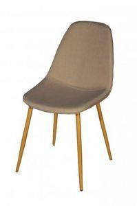Demeure et Jardin - chaise design métal style scandinave vanka - Chaise