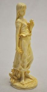 Demeure et Jardin - statuette muse de l'et� - Statuette