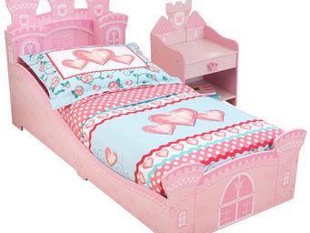 KidKraft - chambre château de princesse lit + chevet + parure - Lit Enfant