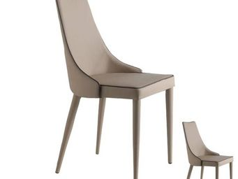 WHITE LABEL - duo de chaises eco-cuir beige - galvo - l 57 x l 5 - Chaise