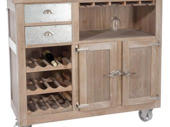 WHITE LABEL - bar en bois - estaminet - l 127 x l 59 x h115 - bo - Meuble Bar