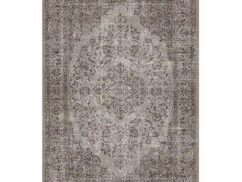 WHITE LABEL - tapis cendre 280 x 200 cm - oriental - l 280 x l 2 - Tapis Contemporain