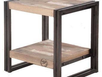 WHITE LABEL - table de chevet - industry - l 50 x l 40 x h 50 -  - Table De Chevet