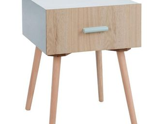 TOUSMESMEUBLES - table de chevet 1 tiroir - lili - l 40 x l 40 x h  - Table De Chevet
