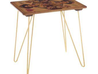 WHITE LABEL - table haute de complément dame de coeur - card - l - Table D'appoint