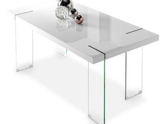 WHITE LABEL - table de repas - temas - l 180 x l 90 x h 76 - ver - Table De Repas Rectangulaire