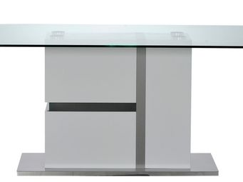 TOUSMESMEUBLES - table de repas � leds - krys - l 200 x l 100 x h 7 - Table De Repas Rectangulaire