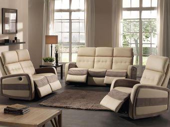 TOUSMESMEUBLES - salon complet relax �lectrique - cormoran - l 188  - Salon
