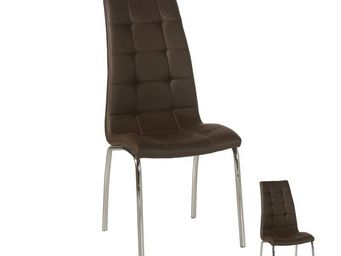 WHITE LABEL - duo de chaises marron - lumy - l 42 x l 43 x h 95  - Chaise