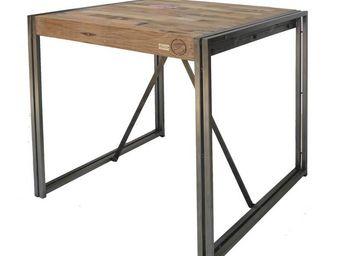 TOUSMESMEUBLES - table mange debout 80 cm� - industry - l 80 x l 80 - Table De Repas Carr�e