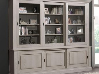 WHITE LABEL - bibliothèque 6 portes coulissantes - berty - l 273 - Bibliothèque