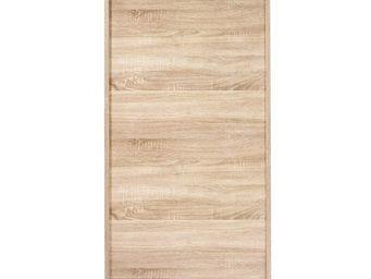 WHITE LABEL - meuble à chaussures à rideau bois clair - shoes n° - Meuble À Chaussures