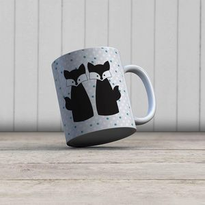 la Magie dans l'Image - mug amoures de renards - Mug