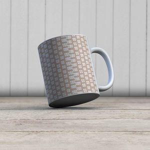 la Magie dans l'Image - mug lotus beige blanc - Mug