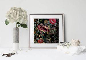 la Magie dans l'Image - print art flow noir - Tableau Décoratif