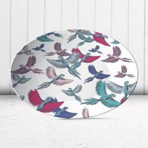 la Magie dans l'Image - assiette oiseaux motif - Assiette De Présentation