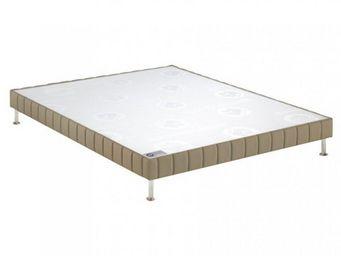 Bultex - bultex sommier tapissier confort ferme daim 150*2 - Sommier Fixe À Ressorts