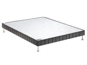 Bultex - bultex sommier tapissier confort ferme anthracite - Sommier Fixe À Ressorts